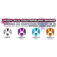 HUDY ALU COUNTERSUNK SHIM - ORANGE - HD296510-O