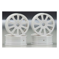 JCONCEPTS RULUX RC10B4 FRONT WHEEL WHITE - JCP3305