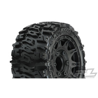 "TRENCHER LP 2.8"" ALL TERRAIN TIRES MOUNTED ON RAID BLACK WHEELS (2) FOR STAMPEDE/RUSTLER 2WD & 4WD FR&RR"