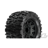 PROLINE TRENCHER 2.8 TIRES MOUNTED ON RAID BLACK REMOVABLE HEX WHEELS 2PCS - PR1170-10