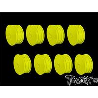"TWORKS 2.2"" 12mm Hex 4WD Front Wheel Yellow( For B64/B74/YZ4-SF ) 8pcs - TE-218-BY-8"
